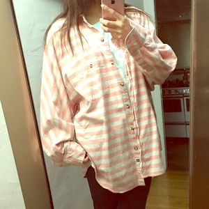 Hurley oversized bat wings flannel 👚 shirt